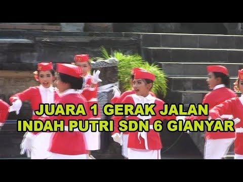 Juara 1 Gerak Jalan Indah Putri SDN 6 GIANYAR TAHUN 2019