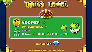 Geometry Dash [2.1] | Daily Level 02/02/17 | Vooper by Serponge (3 coins)