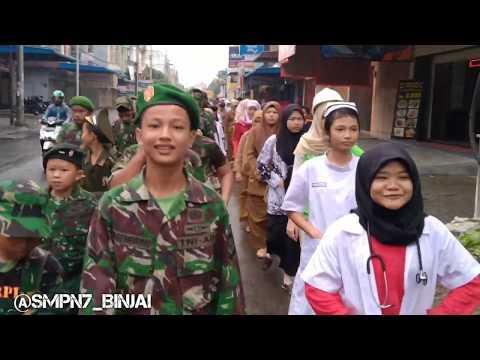 Gerak Jalan SMP NEGRI 7 BINJAI || Sabtu 23 November 2019