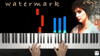 Watermark - Enya - Piano tutorial / cover