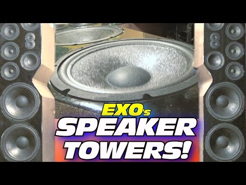 DIY Home Speaker Towers… PLAYING Upbeat Electronic Dance Music w/ EXO's Floor Standing Speakers