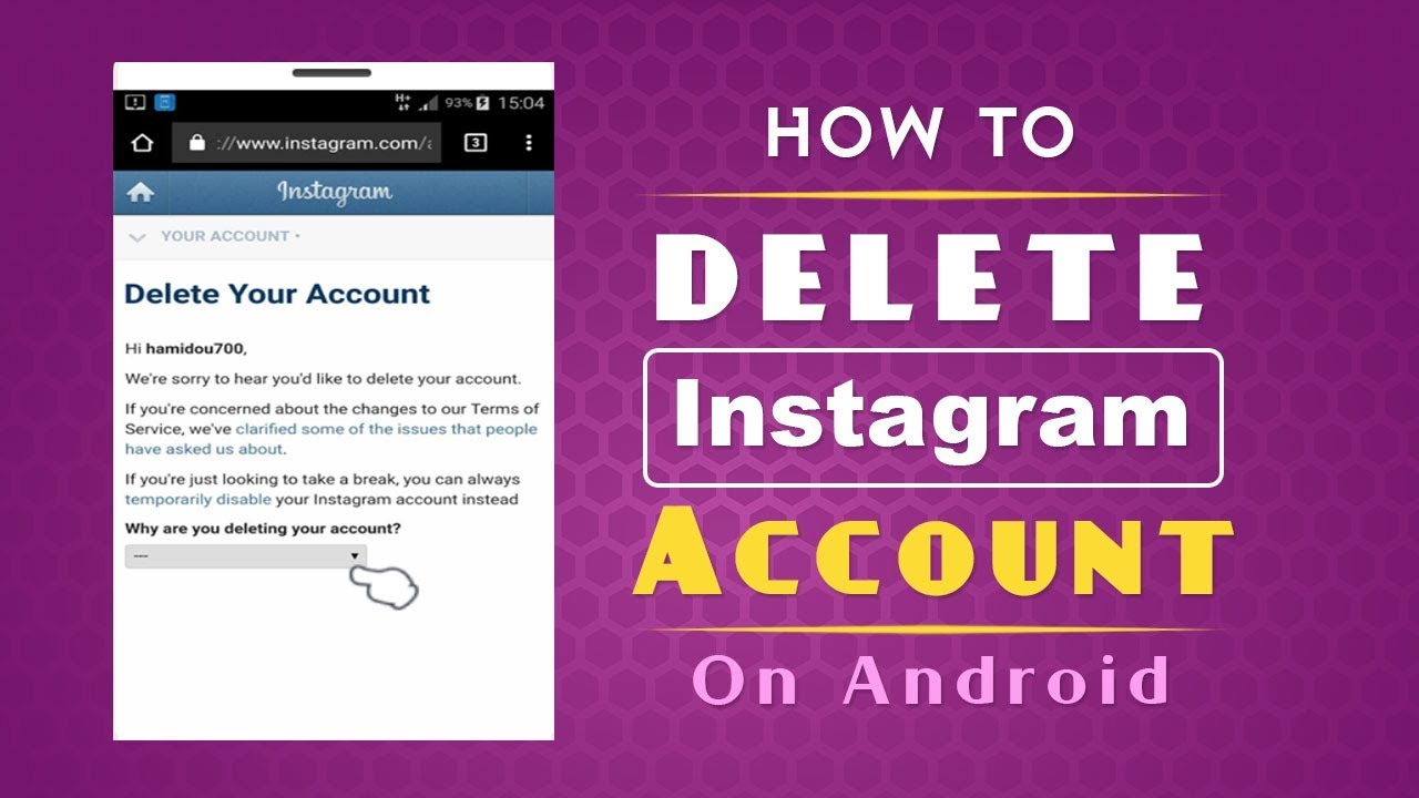 How to Delete Instagram Account Permanently on Android