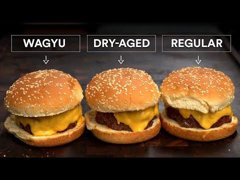 Download WAGYU Burger vs DRY-AGED Burger vs AMAZING Burger HD Mp4 3GP Video and MP3