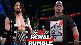 WWE 2K17: Royal Rumble 2017 - AJ Styles vs. John Cena (WWE Championship)