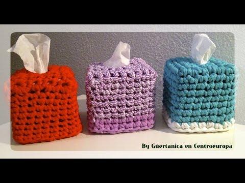 Fundas de cajas de pañuelos en trapillo; Zpagetti tissue box