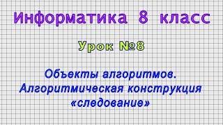 Информатика 8 класс Урок 8