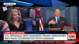 Sean Spicer dodges question about possible collusion with Russia