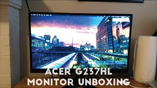 Acer G237HL Monitor Review!