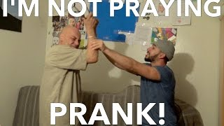 """I'M NOT PRAYING"" PRANK ON MUSLIM DAD!!!"