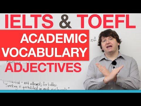 IELTS & TOEFL Academic Vocabulary - Adjectives