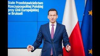 Mateusz Morawiecki podczas konferencji podsumowującej szczyt Rady Europejskiej w Brukseli | Kholo.pk