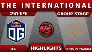 Group Stage - OG vs NIP The International 2019 Highlights Game 1