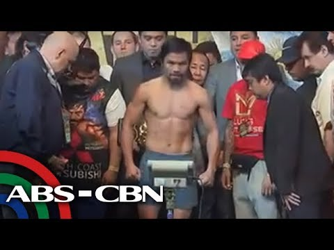 [ABS-CBN]  LIVE: #PacquiaoMatthysse weigh-in | 14 July 2018