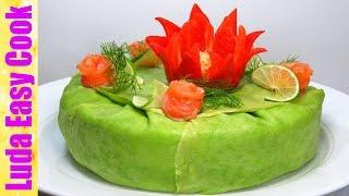ШИКАРНЫЙ ЗАКУСОЧНЫЙ БЛИННЫЙ ТОРТ НА ПРАЗДНИКИ! ВСЕМ ГОСТЯМ ПОНРАВИТСЯ | Smoked Salmon Crepe Cake