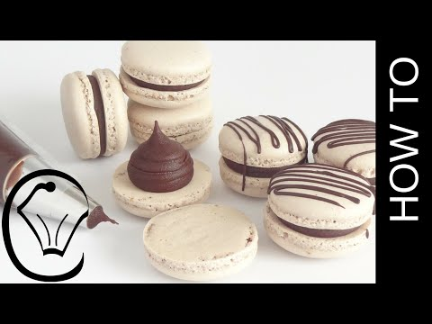 Foolproof Easy Mocha French Macarons With Chocolate Ganache by Cupcake Savvy's Kitchen