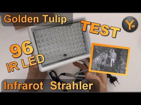 Review: Golden Tulip 96 IR LED Infrarot Nachtsicht Scheinwerfer für CCTV Kamera / Überwachungskamera