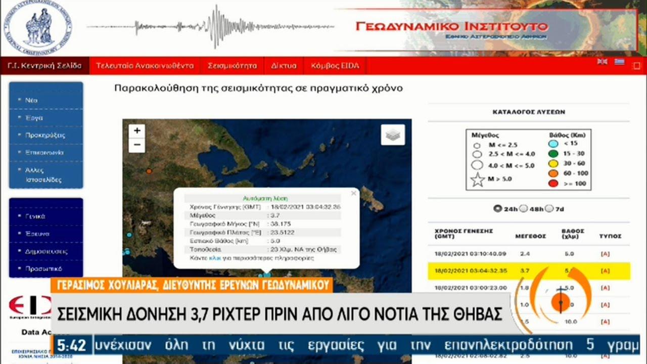 Χουλιάρας για σεισμό ανάμεσα σε Βοιωτία, Αττική: Στο ρήγμα Φυλής το επίκεντρο   18/02/2021   ΕΡΤ