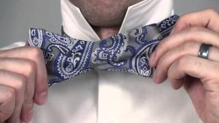 How to Tie a Bow Tie like tying a shoe