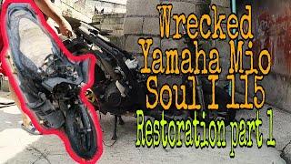 Wrecked Yamaha Mio Soul i 115 Restoration Part 1 | Disassembly