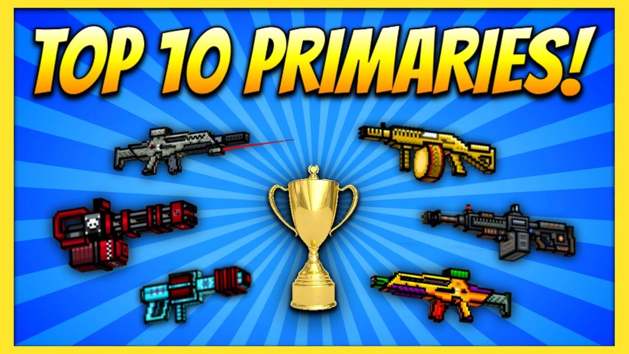 Download TOP 10 PRIMARY GUNS! | Pixel Gun 3D (Special)