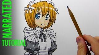 Смотреть онлайн Как нарисовать чиби девочку в стиле манга поэтапно