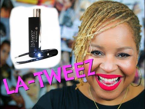 THE BEST TWEEZERS EVER!!!!!!!! LA-TWEEZ Pro Illuminating Tweezer!!!