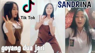 Tik Tok Sandrina Goyang Dua Jari