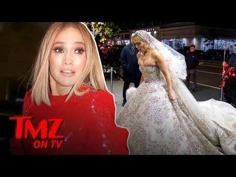 Jennifer Lopez Shows Off Her Wedding Dress ... for a Movie | TMZ TV