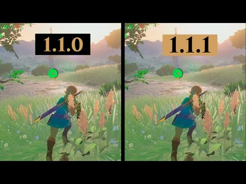 Ya disponible la versión 1.1.1 de Breath of the Wild
