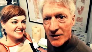 Pelvic Floor Strength Teacher Lara Eardley with past student Accupuncturst Phil McMannus