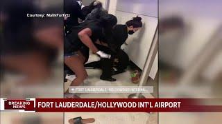 Video captures violent scene at Fort Lauderdale airport