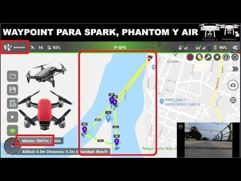 waypoint-con-spark-phantom-34mavic-air-en-español