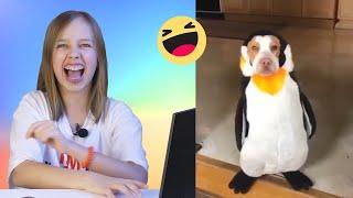 Попробуй не засмеяться Челлендж 😂 Реакция на смешные видео