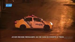 Jovem recebe mensagem, sai de casa e é morto a tiros