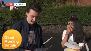Students Open Their GCSE Results Live on GMB   Good Morning Britain