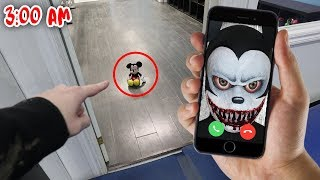CALLING MICKEY MOUSE ON FACETIME AT 3 AM!! *DO NOT TRY THIS* (SCARY MICKEY MOUSE)