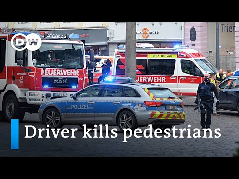 Vehicle driver kills 2, injures several in the German city of Trier