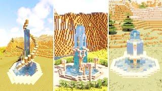 Minecraft: 3 Unique Fountain Designs
