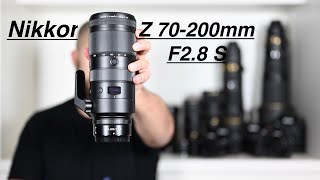 Nikon Z 70-200mm F2.8 VR S. A quick look with Size comparisons.
