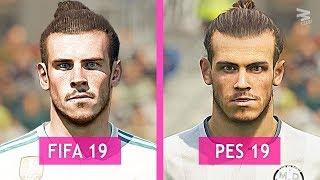 FIFA 19 Vs PES 19: Real Madrid Faces Comparison