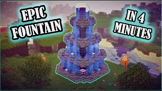 How To Build Fountain in Minecraft /Easy/Epic/In 4minutes/