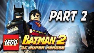 LEGO Batman 2 DC Super Heroes Walkthrough - Part 2 Stop the Joker Let's Play XBOX PS3 PC