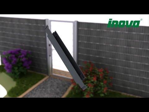 Sichtschutz Zaun   INOVA REFUGIO Einfassprofil   Für Sichtschutz in Drehtoren