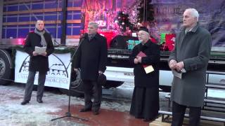 Wigilia na Rynku - Życzenia od prezydenta Piotra Przytockiego