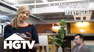 Midcentury Modern Cubicle Makeover - HGTV