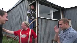 Обзор гаража с огородом и кухней. Кировск.