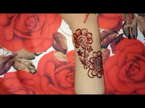 beautiful color mehndi design for back hand by henna arts
