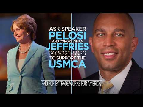 Trade Keeps New York Growing. Tell Congressman Jeffries to Support the USMCA