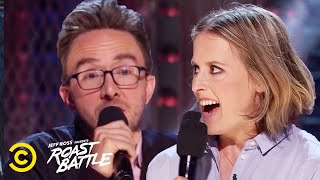 A Husband and Wife Roast Each Other - Joe List vs. Sarah Tollemache - Roast Battle