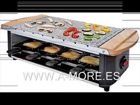 Video Raclette Grill Piedra - brochetas Domoclip DOM255 - para 8 personas
